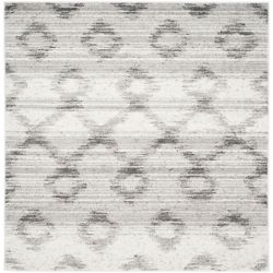 Safavieh Adirondack Isabel Silver / Charcoal 6 ft. x 6 ft. Indoor Square Area Rug