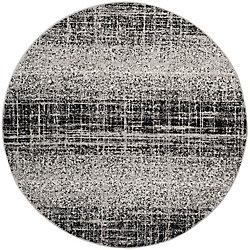 Safavieh Adirondack Janice Silver / Black 6 ft. x 6 ft. Indoor Round Area Rug