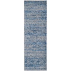 Safavieh Adirondack Leonard Blue / Silver 2 ft. 6-inch x 12 ft. Indoor Runner