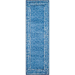 Safavieh Adirondack Luther Light Blue / Dark Blue 2 ft. 6-inch x 12 ft. Indoor Runner