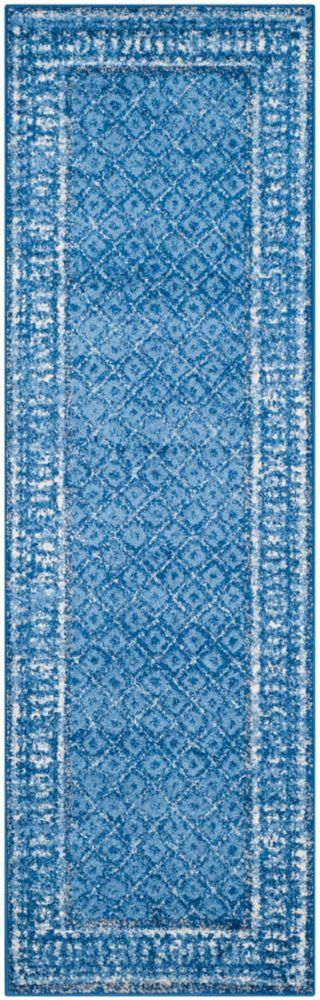 Safavieh Adirondack Luther Light Blue / Dark Blue 2 ft. 6-inch x 12 ft. Indoor Runner