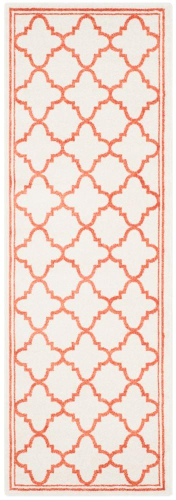 Safavieh Amherst Blanche Beige / Orange 2 ft. 3-inch x 9 ft. Indoor/Outdoor Runner