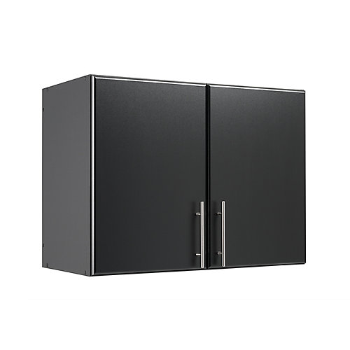 Elite 32-inch Stackable Wall Cabinet in Black