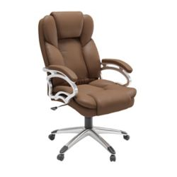 Corliving Workspace Executive Office Chair in Caramel Brown Leatherette