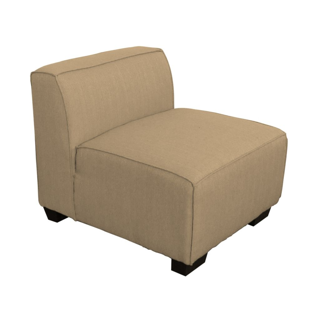 Corliving Lida Middle Sectional Seat in Beige Fabric