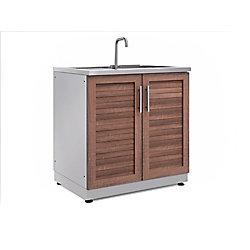 NewAge Products Inc. Armoire évier de 32po (L) x 36,5po (H) x 24po (P) de style bosquet pour cuisine extérieure