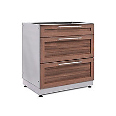Outdoor Kitchen Grove 32.0 inch W x 36.5 inch H x 24.0 inch D 3 Drawer Cabinet