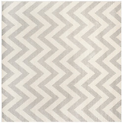 Safavieh Amherst Paula Light Grey / Beige 5 ft. x 5 ft. Indoor/Outdoor Square Area Rug