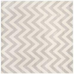 Safavieh Tapis d'intérieur/extérieur carré, 5 pi x 5 pi, Amherst Paula, gris clair / beige