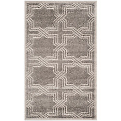 Safavieh Amherst Wilson Grey / Light Grey 3 ft. x 5 ft. Indoor/Outdoor Area Rug