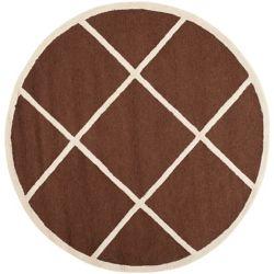 Safavieh Cambridge Aria Dark Brown / Ivory 6 ft. x 6 ft. Indoor Round Area Rug