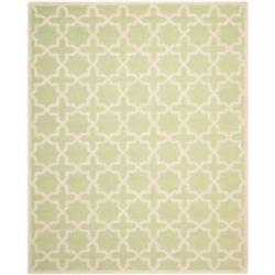 Safavieh Tapis d'intérieur, 8 pi x 10 pi, Cambridge Bernadette, vert clair / ivoire