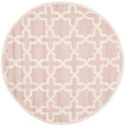 Safavieh Cambridge Bernadette Light Pink / Ivory 4 ft. x 4 ft. Indoor Round Area Rug