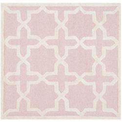 Safavieh Cambridge Bernadette Light Pink / Ivory 4 ft. x 4 ft. Indoor Square Area Rug