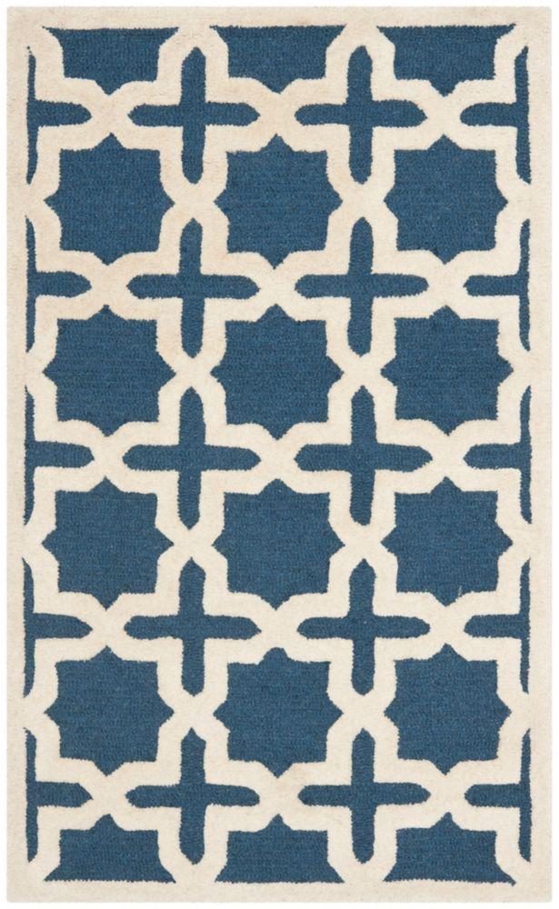 Safavieh Cambridge Bernadette Navy Blue / Ivory 2 ft. 6-inch x 4 ft. Indoor Area Rug