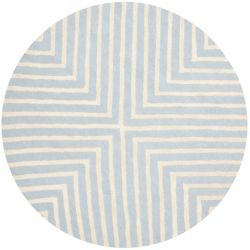 Safavieh Cambridge Beth Light Blue / Ivory 8 ft. x 8 ft. Indoor Round Area Rug