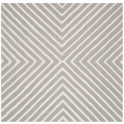 Safavieh Cambridge Beth Silver / Ivory 4 ft. x 4 ft. Indoor Square Area Rug