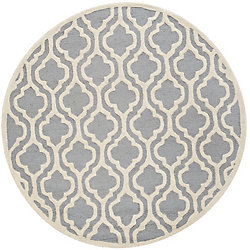 Safavieh Cambridge Brenton Silver / Ivory 4 ft. x 4 ft. Indoor Round Area Rug