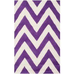 Safavieh Tapis d'intérieur, 2 pi 6 po x 4 pi, Cambridge Caroline, violet / ivoire