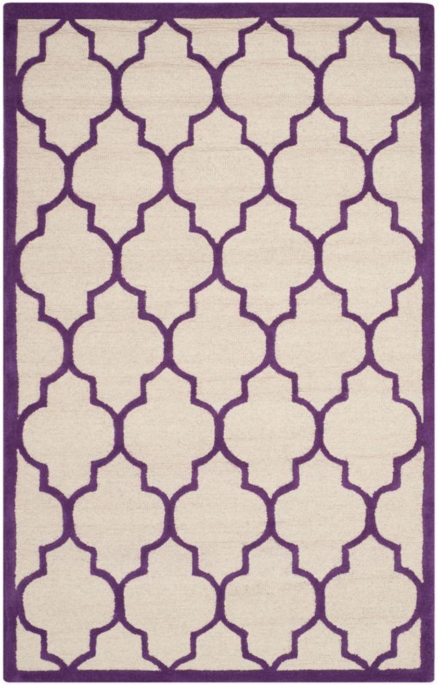 Safavieh Cambridge Derek Ivory / Purple 4 ft. x 6 ft. Indoor Area Rug