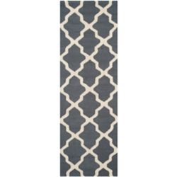 Safavieh Cambridge Giselle Dark Grey / Ivory 2 ft. 6-inch x 14 ft. Indoor Runner