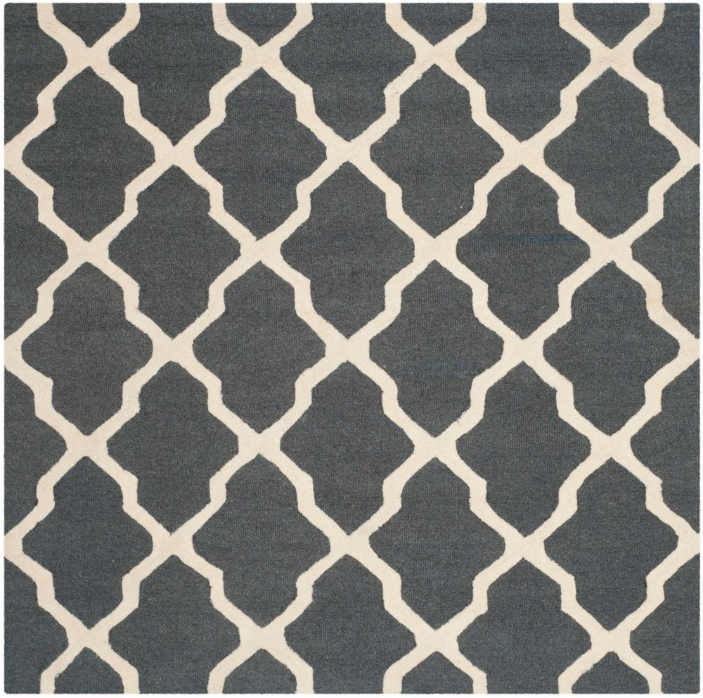 Safavieh Cambridge Giselle Dark Grey / Ivory 6 ft. x 6 ft. Indoor Square Area Rug