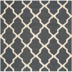 Safavieh Tapis d'intérieur carré, 6 pi x 6 pi, Cambridge Giselle, dark gris / ivoire