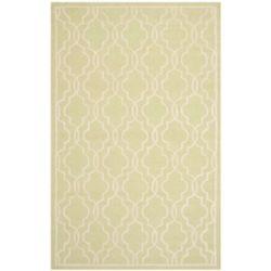 Safavieh Tapis d'intérieur, 4 pi x 6 pi, Cambridge Helen, vert clair / ivoire