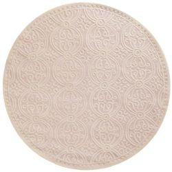 Safavieh Tapis d'intérieur rond, 4 pi x 4 pi, Cambridge Jacob, rose clair / ivoire