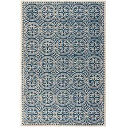 Safavieh Tapis d'intérieur, 4 pi x 6 pi, Cambridge Jacob, marin bleu / ivoire