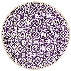 Safavieh Cambridge Jacob Purple / Ivory 6 ft. x 6 ft. Indoor Round Area Rug