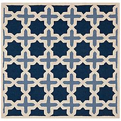 Safavieh Cambridge Lucas Blue / Ivory 4 ft. x 4 ft. Indoor Square Area Rug