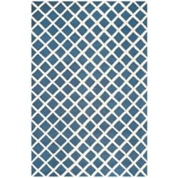 Safavieh Tapis d'intérieur, 6 pi x 9 pi, Cambridge Madison, marin / ivoire