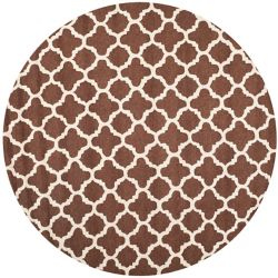 Safavieh Cambridge Travis Dark Brown / Ivory 6 ft. x 6 ft. Indoor Round Area Rug