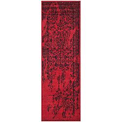 Safavieh Adirondack Alexa Red / Black 2 ft. 6-inch x 18 ft. Indoor Runner