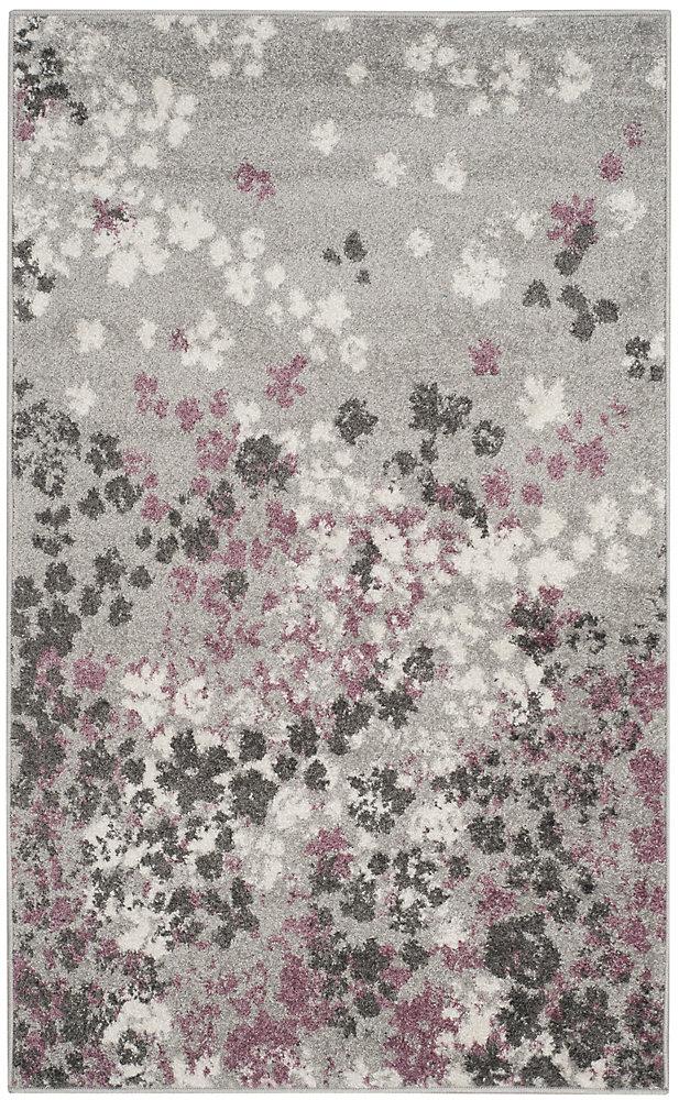 Tapis d\'intérieur, 2 pi 6 po x 4 pi, Adirondack Arthur, gris clair / violet