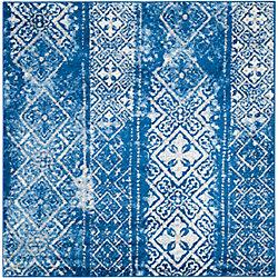Safavieh Adirondack Carlie Silver / Blue 6 ft. x 6 ft. Indoor Square Area Rug