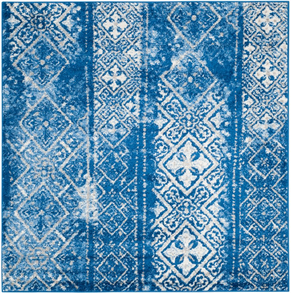 Safavieh Adirondack Carlie Silver / Blue 6 ft. x 6 ft. Indoor Square Area Rug