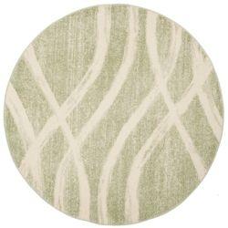 Safavieh Adirondack Gerald Sage / Cream 6 ft. x 6 ft. Indoor Round Area Rug