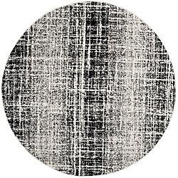 Safavieh Adirondack Janice Ivory / Black 6 ft. x 6 ft. Indoor Round Area Rug