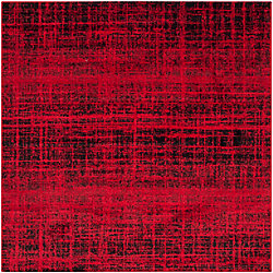 Safavieh Adirondack Janice Red / Black 4 ft. x 4 ft. Indoor Square Area Rug