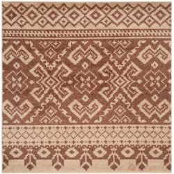 Safavieh Adirondack Karina Camel / Chocolate 4 ft. x 4 ft. Indoor Square Area Rug