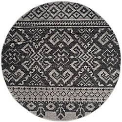 Safavieh Adirondack Karina Silver / Black 8 ft. x 8 ft. Indoor Round Area Rug