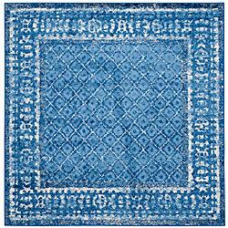 Safavieh Adirondack Luther Light Blue / Dark Blue 8 ft. x 8 ft. Indoor Square Area Rug