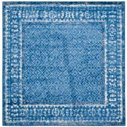 Safavieh Tapis d'intérieur carré, 8 pi x 8 pi, Adirondack Luther, bleu clair / bleu foncé