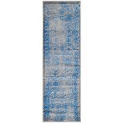 Safavieh Tapis de passage d'intérieur, 2 pi 6 po x 20 pi, Adirondack Mackenzie, gris / bleu