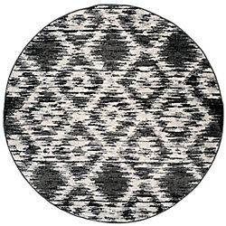 Safavieh Adirondack Sheryl Charcoal / Ivory 6 ft. x 6 ft. Indoor Round Area Rug