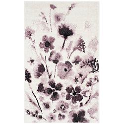 Safavieh Adirondack Timothy Ivory / Purple 3 ft. x 5 ft. Indoor Area Rug