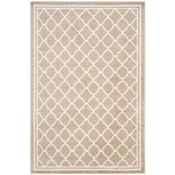 Safavieh Tapis d'intérieur/extérieur, 6 pi x 9 pi, Amherst Blanche, blé / beige