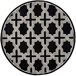 Safavieh Amherst Marist Anthracite / Grey 7 ft. x 7 ft. Indoor/Outdoor Round Area Rug